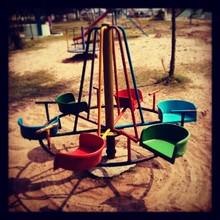 Merry Go-round At Playground