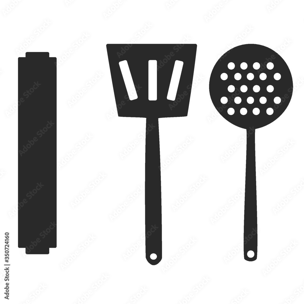 Fototapeta set of kitchen tools