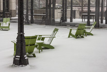 Green Wooden Lawn Chairs Cover...