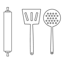 Kitchen Utensils Vector Illust...