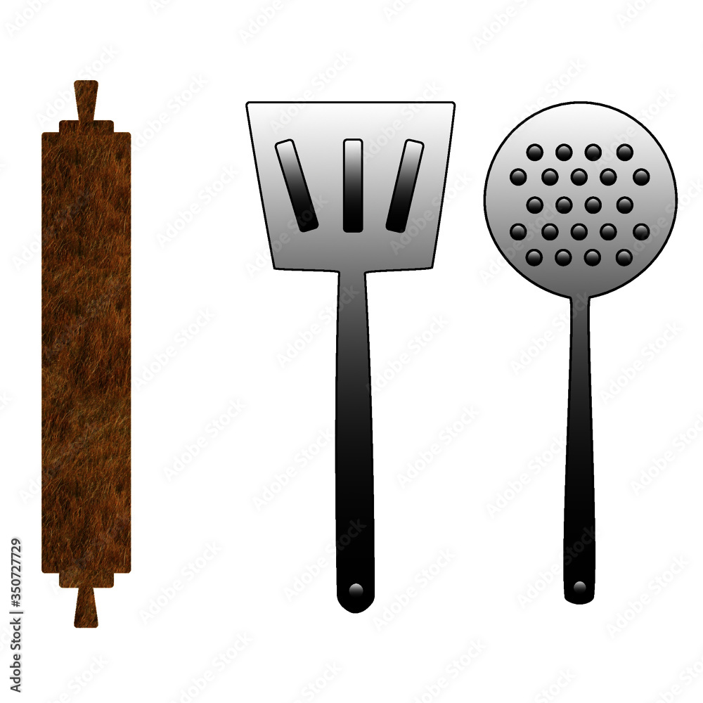 Fototapeta set of kitchen knives