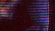 Vintage Horror Looping Film Strip Melting Background. 4K Reel Clutter, Old Tv And Film Grain Noise.