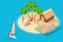 Isometric Summer Vacation Conc...