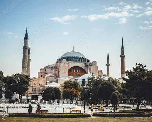 Carta da parati hagia sophia in istanbul turkey
