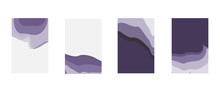 Set Of Abstract Background In Purple Shades For Poster, Brochure Or Flyer, Vector Image