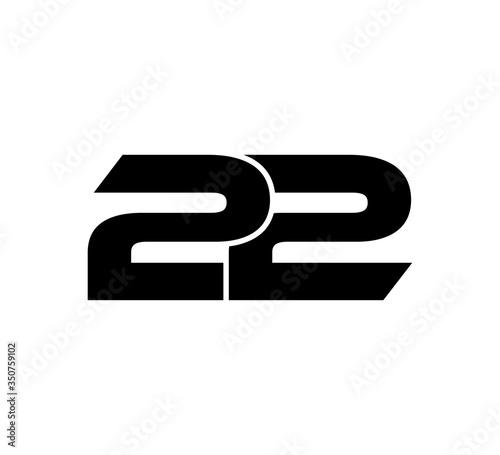 Photo Initial 2 numbers Logo Modern Simple Black 22