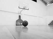Basketball On Empty Court