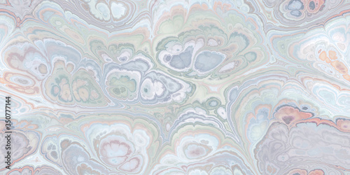 soft blue sage light salmon marbleized seamless tile Wallpaper Mural