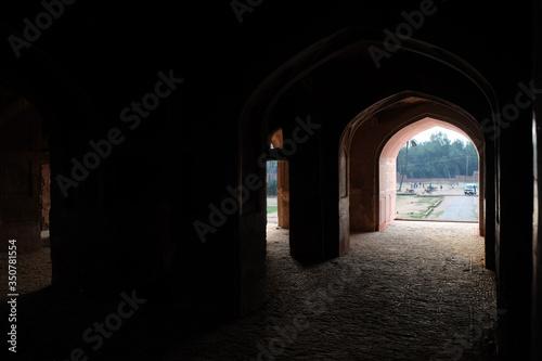 Fotografering Archway In Corridor