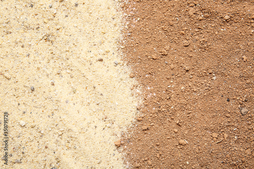 Fototapeta Texture of soil as background obraz