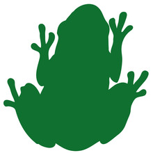カエルの緑色シルエッ...