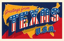 Greetings From Texas USA. Retr...