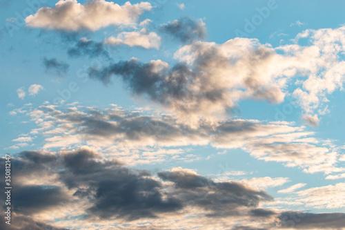 Fotografie, Obraz stormy sky at sunset as a background