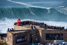 Nazare Has One Thing Which Attracts Thousands Of Tourists And Just Few Surfers Who Are Brave And Crazy Enough To Ride The Biggest Waves On Our Planet.