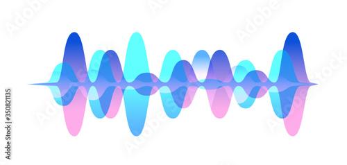 Fototapeta Colorful gradient sound waveform vector graphic illustration