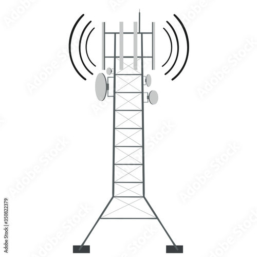 Telecommunication tower of 4G and 5G cellular Fototapete
