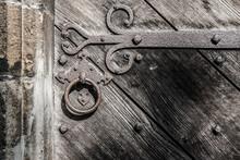 Ancient, Heavy Oak Wooden Door...