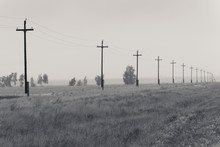 Power Lines In The Fog