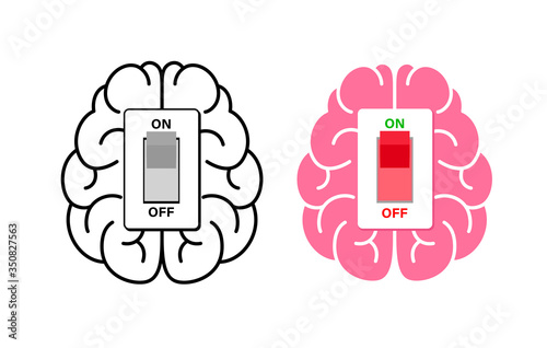 Brain power switch, turned on working fine, awake Canvas Print