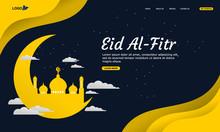 Vector Illustration Of A Eid A...