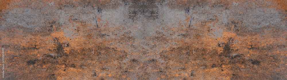Fototapeta Anthracite rusty rock stone slate metal texture background banner panorama