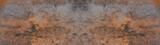 Fototapeta Kamienie - Anthracite rusty rock stone slate metal texture background banner panorama
