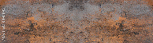 Anthracite rusty rock stone slate metal texture background banner panorama