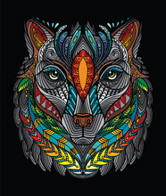 Vector Colorful Wolf