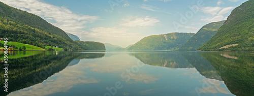 Norwegian fjords mountain picturesque landscape view, Norway