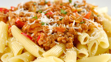 Penne Pasta With Cheese, Bolog...