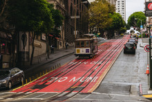 Cable Car On The Street Of San...