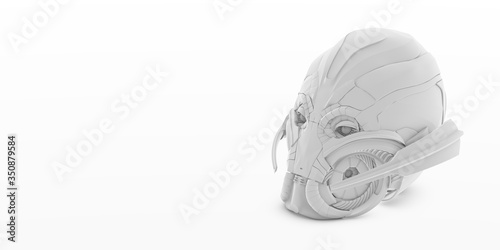 3d Illustration - ultron head isolated Canvas Print