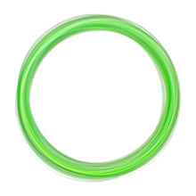 Abstract Green Swirl Circle On White Background. Round Green Swirl Frame Or Banner With Place For Your Content. Eps 10 Vector Illustration Gradient Mesh. Abstract Vector Swirling Circle Background.