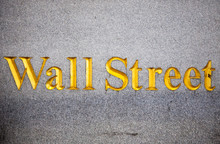 Engraved Wall Street Sign On W...