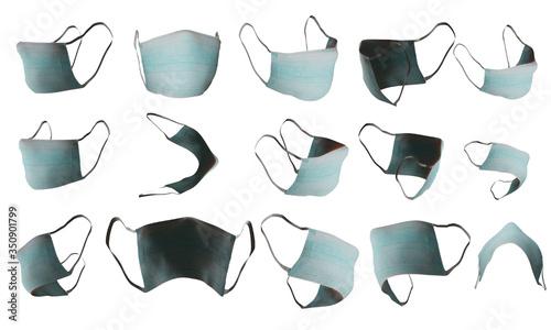 Fotografie, Obraz Medical mask set transparent raster