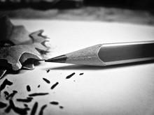 Close-up Of Sharpened Pencil