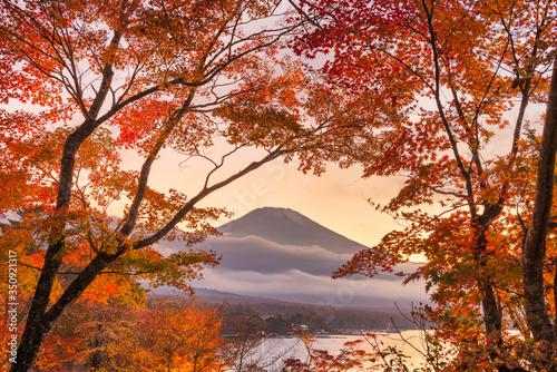 Fényképezés Mt. Fuji, Japan viewed from Yamanaka Lake