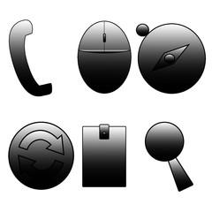 black computer mouse icon