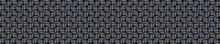 Gold Foil Effect Woven Texture Seamless Border Background. Metallic Golden Weave Trellis. Elegant Ditsy Luxe Lace Pattern Banner. Festive Winter Party Bling Edge Bordure. Shimmer Sparkle Ribbon Trim