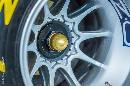 Photo Close Up Of Car Alloy Rim