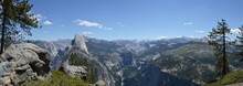 Panoramic View Of Rocky Mountains Against Sky At Yosemite National Park