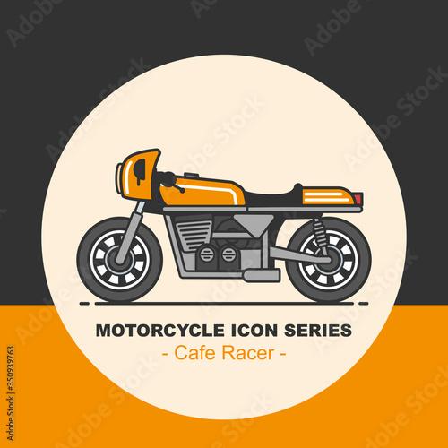 Retro motorcycle design Canvas Print