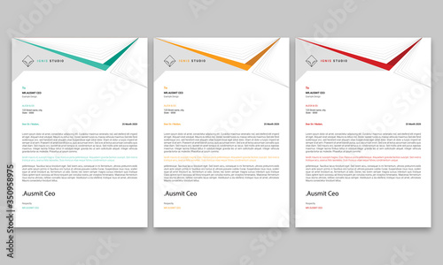 Fototapeta Corporate Letterhead/Letterhead Template/Company Letterhead Design/Letterhead Template/Business Letterhead/Corporate Letterhead/Abstract Letterhead Template/Modern Letterhead Design obraz