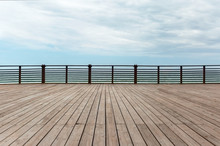 Wooden Platform And Fence