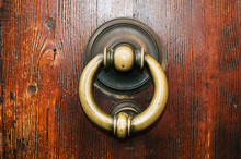 Old Iron Ring On The Door For ...