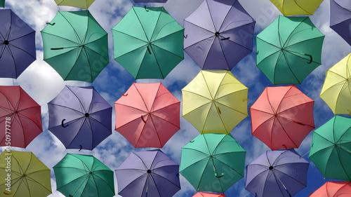 Photo Colored umbrellas