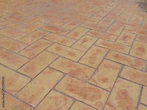 Stampa su Tela Full Frame Shot Of Paving Stone Footpath