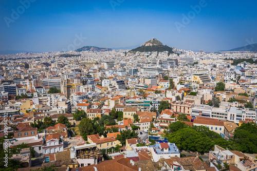 Photo Athens city center, view around Lycabettus Hill, Attica, Greece