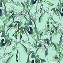 Peas Seamless Pattern