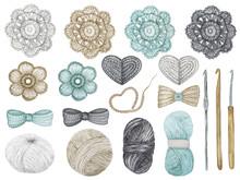Crochet Shop Concept Of Hooks,...